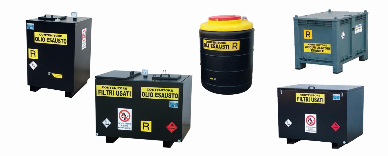 contenitori ecologici per oli e lubrificanti a Lucca